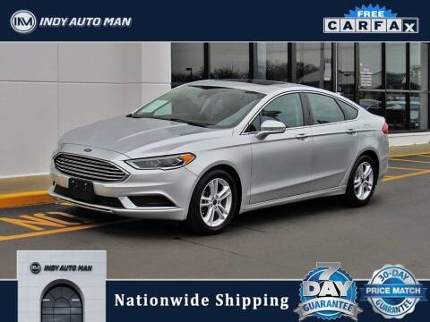 2018 Ford Fusion for sale at INDY AUTO MAN in Indianapolis IN