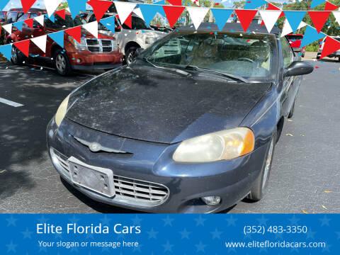 2001 Chrysler Sebring for sale at Elite Florida Cars in Tavares FL