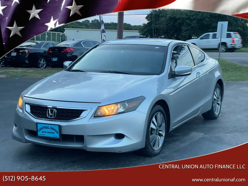 2008 Honda Accord for sale at Central Union Auto Finance LLC in Austin TX