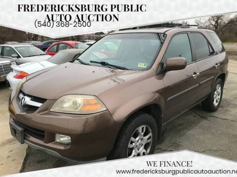 2004 Acura MDX for sale at FPAA in Fredericksburg VA