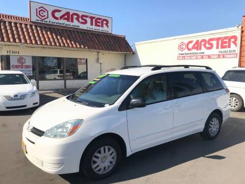 2004 Toyota Sienna for sale at CARSTER in Huntington Beach CA