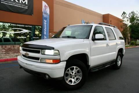 2004 Chevrolet Tahoe for sale at CK Motors in Murrieta CA