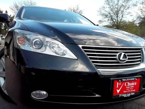 2007 Lexus ES 350 for sale at 1st Choice Auto Sales in Fairfax VA