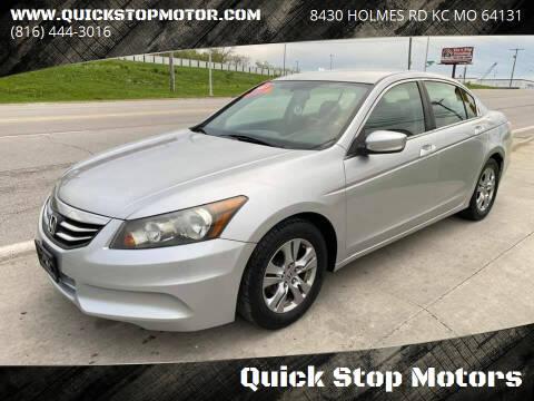 2011 Honda Accord for sale at Quick Stop Motors in Kansas City MO