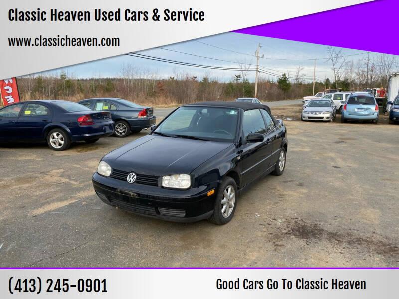 2001 Volkswagen Cabrio for sale at Classic Heaven Used Cars & Service in Brimfield MA