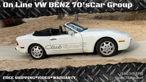 1990 Porsche 944 for sale at On Line VW BENZ 70'sCar Group in Warehouse CA