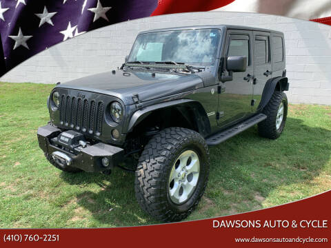 2010 Jeep Wrangler Unlimited for sale at Dawsons Auto & Cycle in Glen Burnie MD