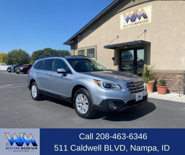2016 Subaru Outback for sale at Western Mountain Bus & Auto Sales in Nampa ID