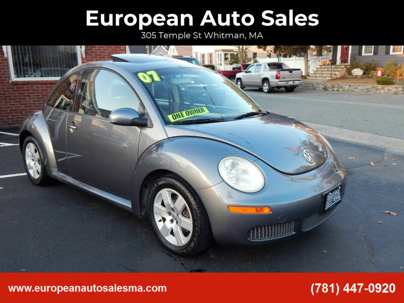 2007 Volkswagen New Beetle for sale at European Auto Sales in Whitman MA