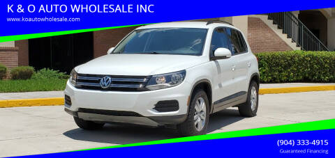 2016 Volkswagen Tiguan for sale at K & O AUTO WHOLESALE INC in Jacksonville FL