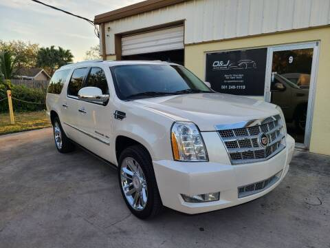 2013 Cadillac Escalade ESV for sale at O & J Auto Sales in Royal Palm Beach FL