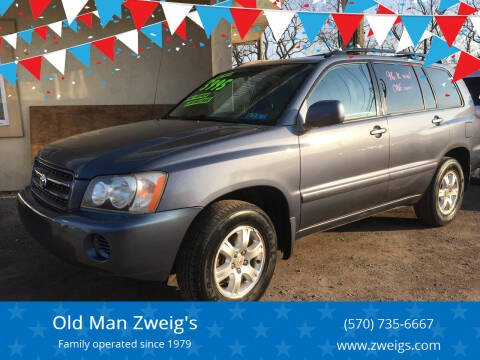 2002 Toyota Highlander for sale at Old Man Zweig's in Plymouth Township PA