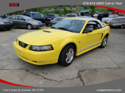 2002 Ford Mustang for sale at CRAIGE MOTOR CO in Durham NC