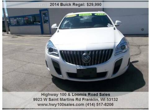 2014 Buick Regal for sale at Highway 100 & Loomis Road Sales in Franklin WI
