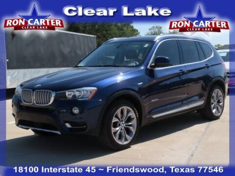2017 BMW X3 for sale at Ron Carter  Clear Lake Used Cars in Houston TX