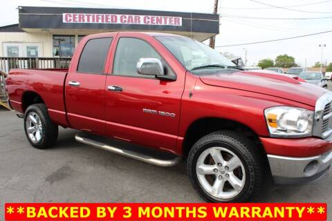 2007 Dodge Ram Pickup 1500 for sale at CERTIFIED CAR CENTER in Fairfax VA