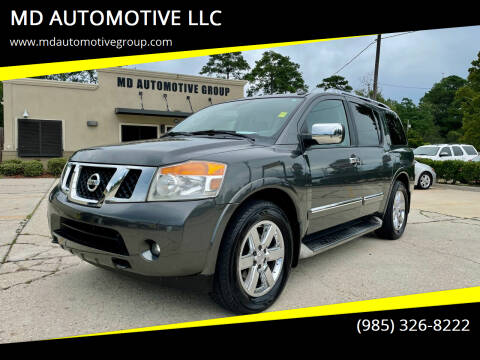 2011 Nissan Armada for sale at MD AUTOMOTIVE LLC in Slidell LA
