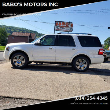 2010 Ford Expedition for sale at BABO'S MOTORS INC in Johnstown PA