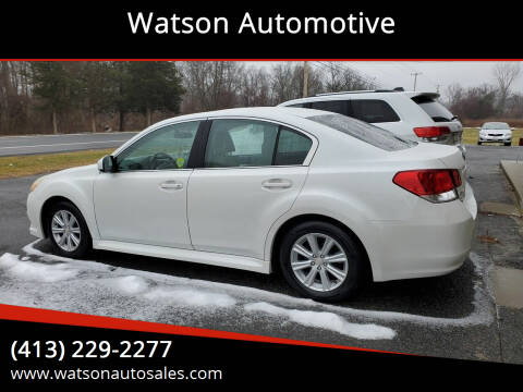 2010 Subaru Legacy for sale at Watson Automotive in Sheffield MA