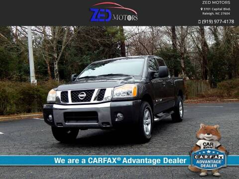 2010 Nissan Titan for sale at Zed Motors in Raleigh NC