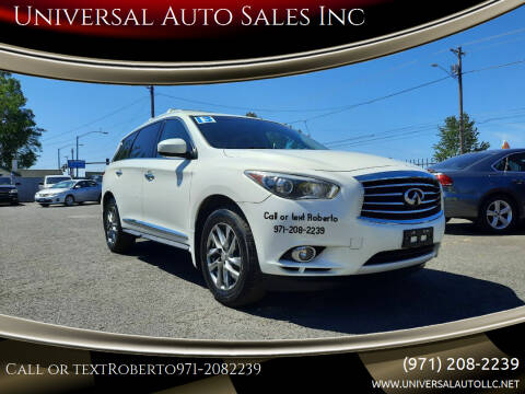2013 Infiniti JX35 for sale at Universal Auto Sales Inc in Salem OR