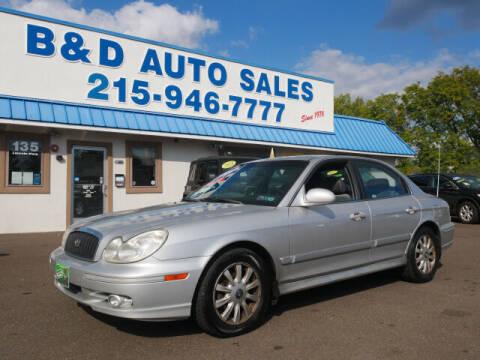2004 Hyundai Sonata for sale at B & D Auto Sales Inc. in Fairless Hills PA