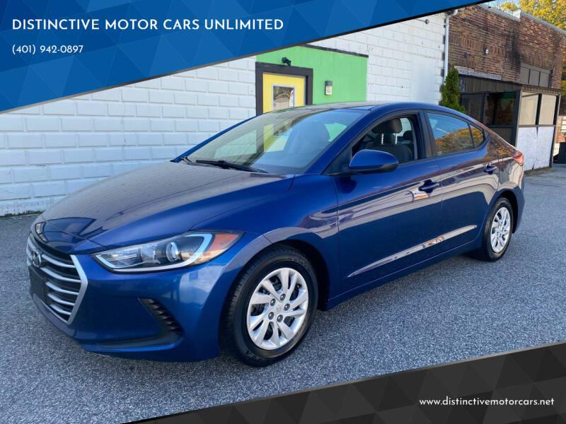 2017 Hyundai Elantra for sale at DISTINCTIVE MOTOR CARS UNLIMITED in Johnston RI