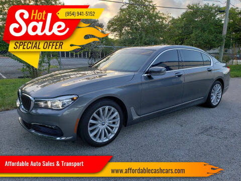 2017 BMW 7 Series for sale at Affordable Auto Sales & Transport in Pompano Beach FL