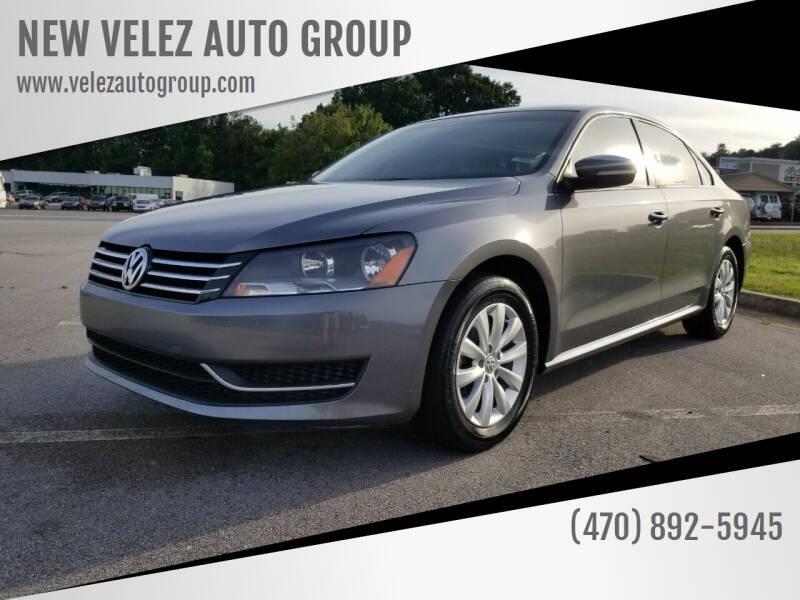2014 Volkswagen Passat for sale at NEW VELEZ AUTO GROUP in Gainesville GA