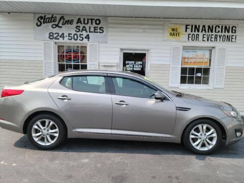 2013 Kia Optima for sale at STATE LINE AUTO SALES in New Church VA