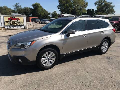 2015 Subaru Outback for sale at Cordova Motors in Lawrence KS
