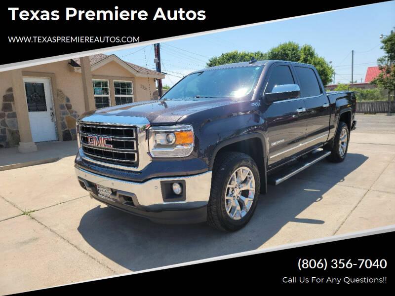2015 GMC Sierra 1500 for sale at Texas Premiere Autos in Amarillo TX