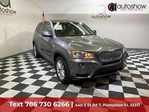 2014 BMW X3 for sale at AUTOSHOW SALES & SERVICE in Plantation FL