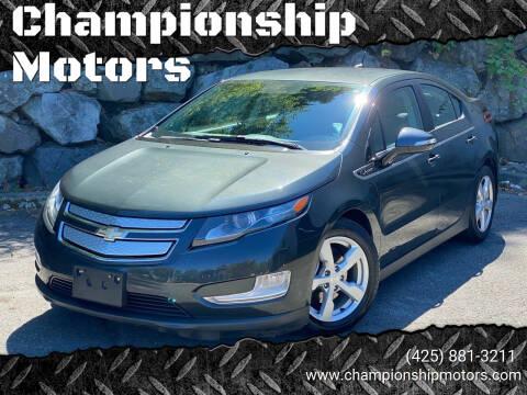 2014 Chevrolet Volt for sale at Championship Motors in Redmond WA