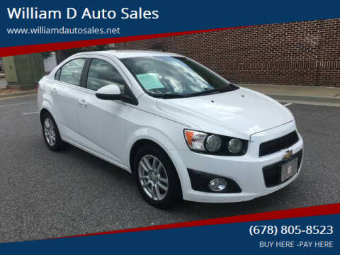 2014 Chevrolet Sonic for sale at William D Auto Sales in Norcross GA