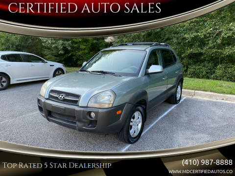 2006 Hyundai Tucson for sale at CERTIFIED AUTO SALES in Severn MD