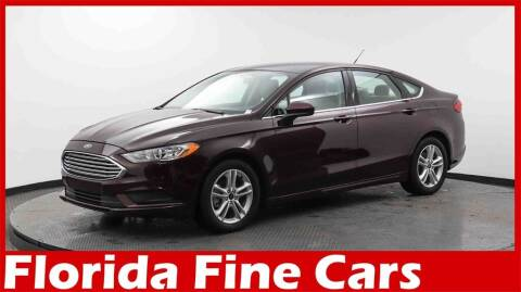 2018 Ford Fusion for sale at Florida Fine Cars - West Palm Beach in West Palm Beach FL
