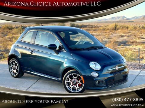 2014 FIAT 500 for sale at Arizona Choice Automotive LLC in Mesa AZ