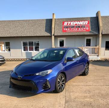2017 Toyota Corolla for sale at Stephen Motor Sales LLC in Caldwell OH