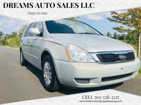 2012 Kia Sedona for sale at Dreams Auto Sales LLC in Leesburg VA