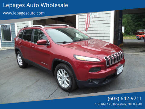 2015 Jeep Cherokee for sale at Lepages Auto Wholesale in Kingston NH