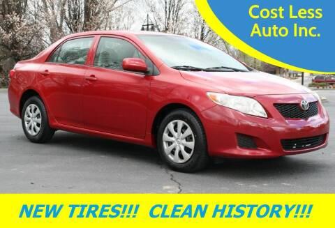 2009 Toyota Corolla for sale at Cost Less Auto Inc. in Rocklin CA
