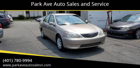 2006 Toyota Camry for sale at Park Ave Auto Sales and Service in Cranston RI