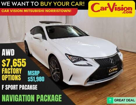 2018 Lexus RC 300 for sale at Car Vision Mitsubishi Norristown in Trooper PA