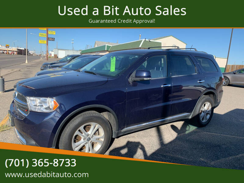 2013 Dodge Durango for sale at Used a Bit Auto Sales in Fargo ND