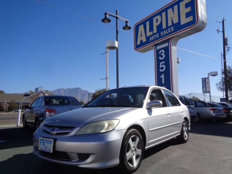 2004 Honda Civic for sale at Alpine Auto Sales in Salt Lake City UT