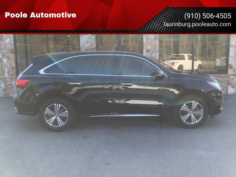 2020 Acura MDX for sale at Poole Automotive in Laurinburg NC