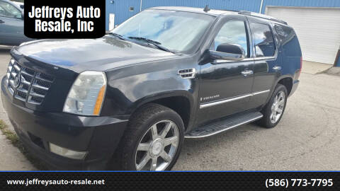 2009 Cadillac Escalade for sale at Jeffreys Auto Resale, Inc in Clinton Township MI