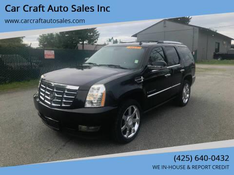 2007 Cadillac Escalade for sale at Car Craft Auto Sales Inc in Lynnwood WA