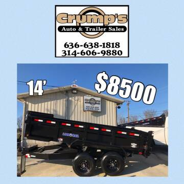 2021 Load Trail 14' Bumper Pull Dump Trailer for sale at CRUMP'S AUTO & TRAILER SALES in Crystal City MO